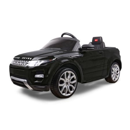 12V Electric Car Range Rover Evoque Ride On For Kids Power Wheels With Remote Control Led Lights Mp3 Music And Horn   Black