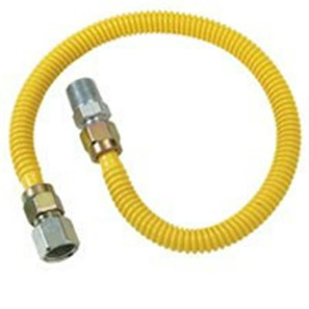 BrassCraft ProCoat CSSD54 12 Straight Gas Connector 1 2 in Inlet 1 2 i