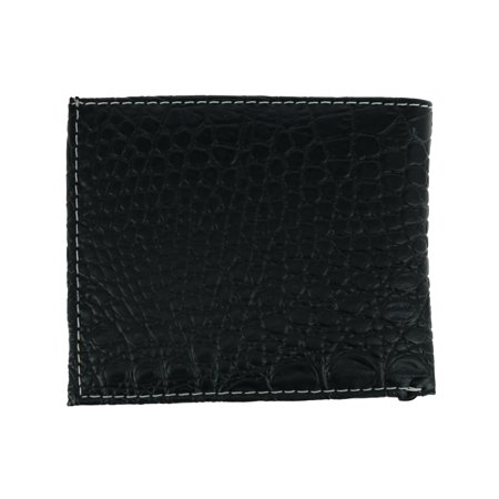 CTM Men's Faux Lizard Print Bifold Wallet with Star Concho - image 1 de 4