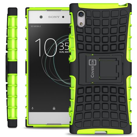 reputable site aa0db 4750f CoverON Sony Xperia XA1 Case, Atomic Series Slim Protective Kickstand Phone  Cover