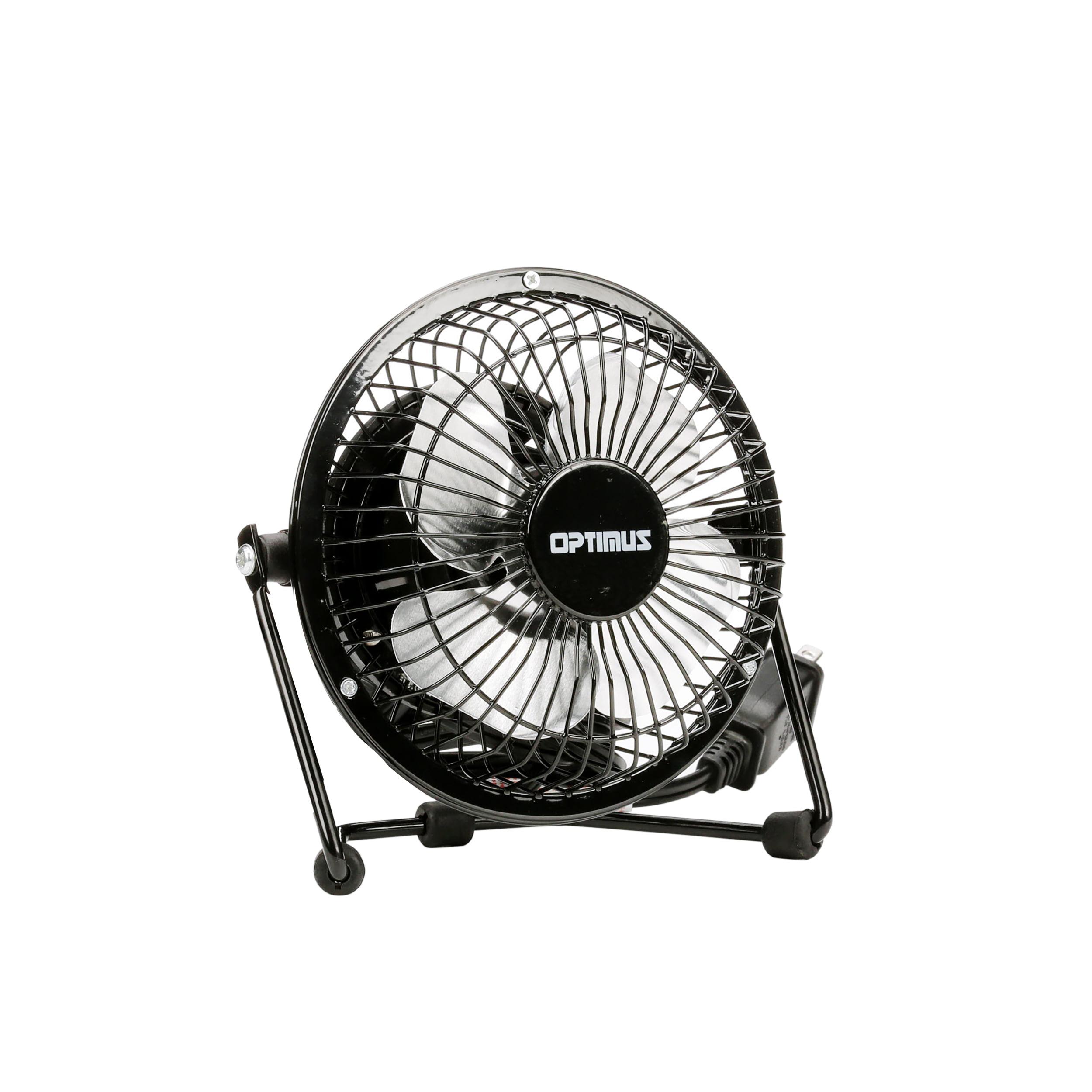 """Optimus 4"""" Personal Fan, Model #F-4040, Black"""