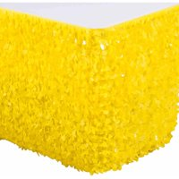 """Vinyl Floral Sheeting Table Skirt, Light Yellow, For 72"""" Round Table"""