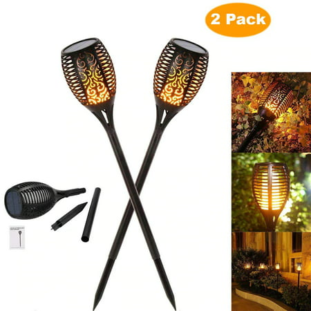 2PC 33 LED Solar Power Torch Light Flame Dance Ornament Garden Outdoor Waterproof Lawn Landscape Lamp