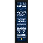 "West Virginia Mountaineers Family Cheer Print 8""x24"""