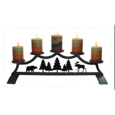 Village Wrought Iron C-PFP-22-83 Moose - Fireplace Pillar Candle (Fireplace Pillar)