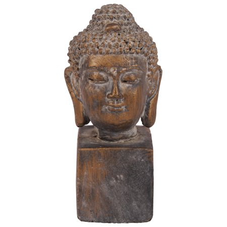 Urban Trends Collection: Cement Buddha HeadTarnished Finish Bronze Buddha Bronze Finish