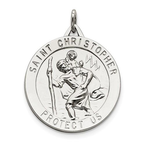 Sterling Silver Engravable Saint Christopher Medal