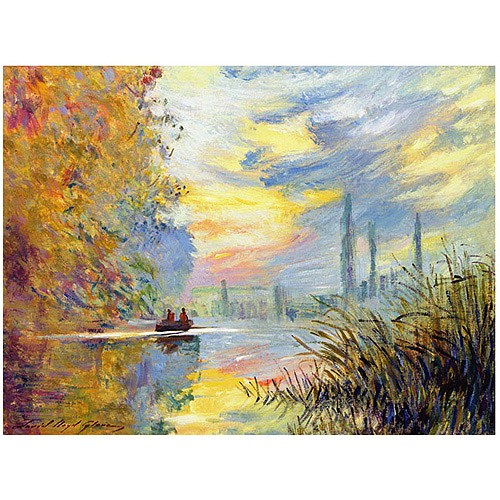 "Trademark Art ""Sunset at Argenteuil"" Canvas Wall Art by David Lloyd Glover"