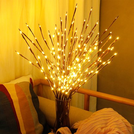 Christmas Branches (Iuhan LED Willow Branch Lamp Floral Lights 20 Bulbs Home Christmas Party Garden)