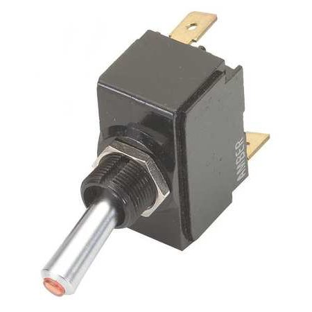 CARLING TECHNOLOGIES Toggle Switch,SPDT,10A @ 250V,QuikConnct, LT-1561-601-012