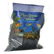 Pure Water Pebbles Aquarium Gravel Jet Black Premium Natural Substrate 2 lbs