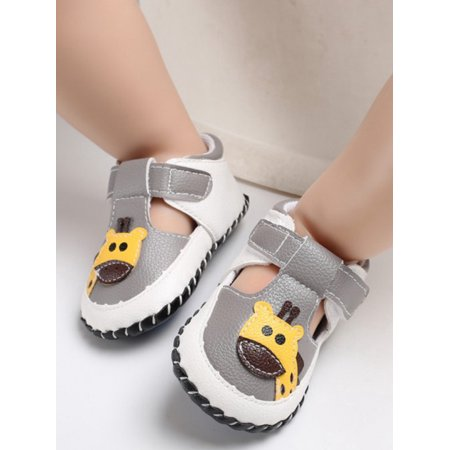 Lavaport Lovely Baby Girl Boy Unisex PU Leather Giraffe Lace-up Shoes First Walkers ()