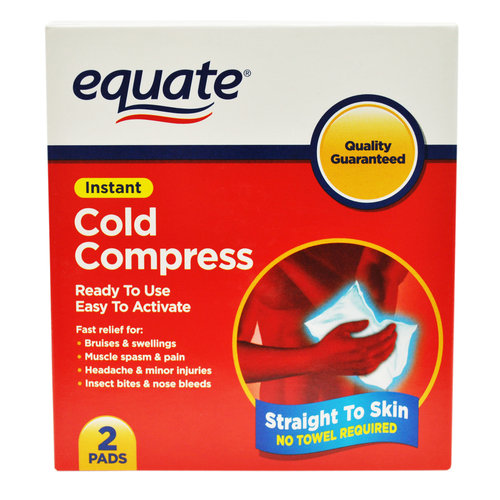 Equate Instant Cold Compress Pads, 2 count