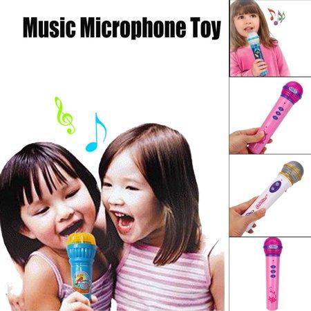 New Fashion Girls Boys Microphone Mic Karaoke Singing Kid Funny Gift Music Toy (Toy Microphone)