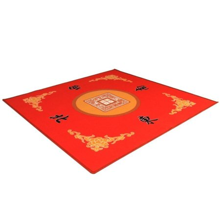 Universal Mahjong / Paigow / Card / Game Table Cover - Red Mat 31.5