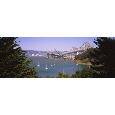 Cranes At A Bridge Construction Site Bay Bridge Treasure Island Oakland San Francisco California Usa Poster Print