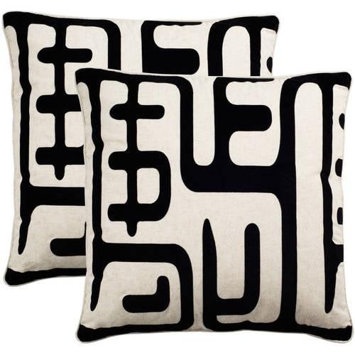 Safavieh Maize Black Pillow, Set of 2