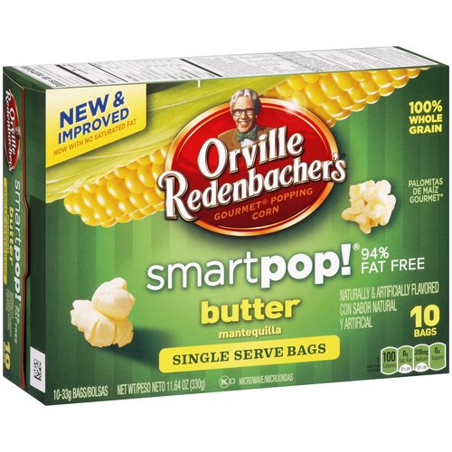 Orville Redenbacher's Smartpop! Butter Microwave Popcorn, 10 count, 11.64 oz