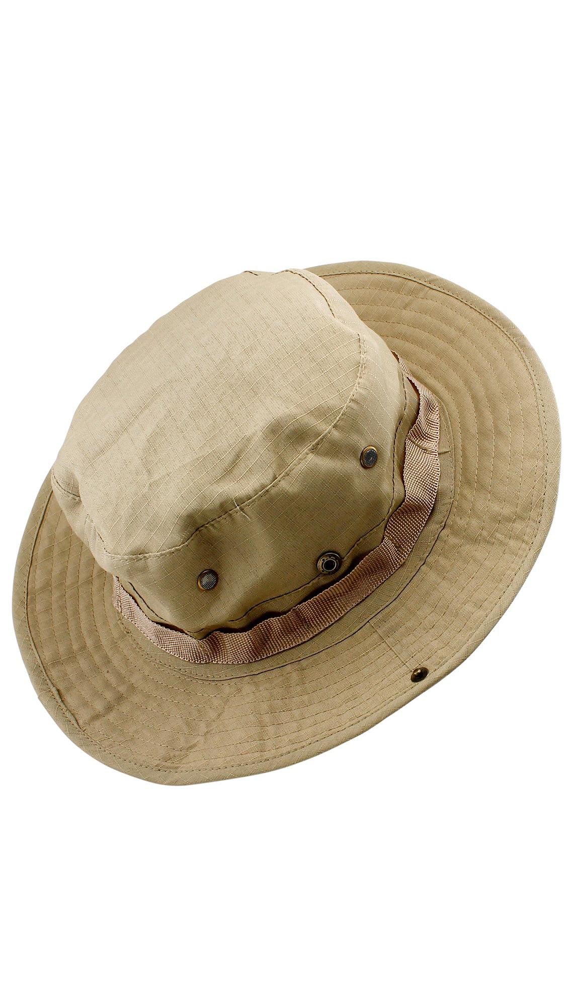 Fishing Hunting Bucket Hat Boonie Outdoor Cap Washed Cotton Safari ...