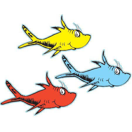 DR SEUSS ONE FISH TWO FISH PAPER CUT -