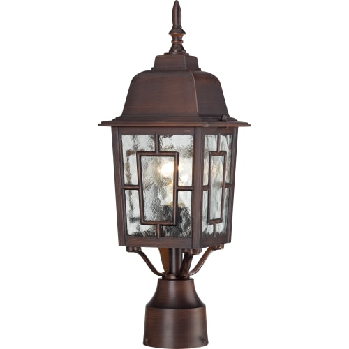 Nuvo Lighting 60 4928 Banyon Single-Light Post Lantern with Clear Water Glass Pa by Nuvo Lighting
