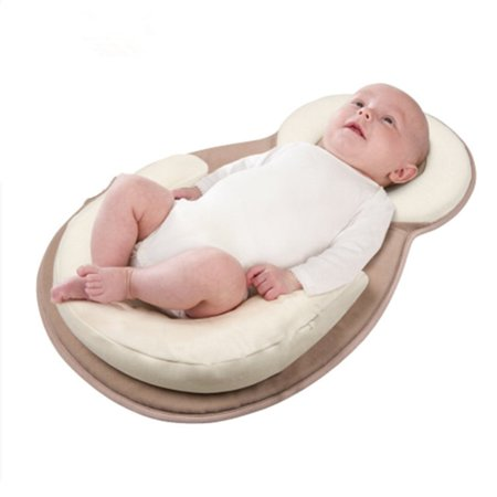 Portable Baby Pillow Nursery Travel Folding Baby Bed Pillow Bag Infant Toddler Cradle ()