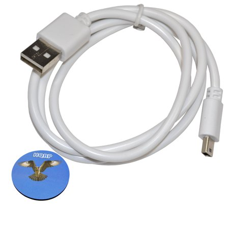 White Mini Usb - HQRP USB to mini USB Cable (White) for LeapFrog LeapPad1 / LeapPad 1 ; LeapPad2 / LeapPad 2 Power ; LeapPad2 / LeapPad 2 Explorer Kids' Explorer Learning Tablet + HQRP Coaster