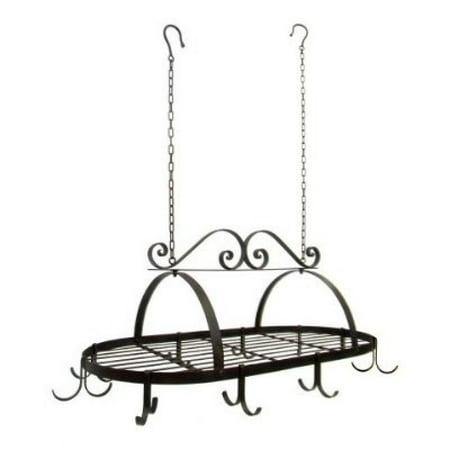 Fi Tuscan Iron - Tuscan Wrought Iron Metal Hanging Pot Holder [Kitchen]