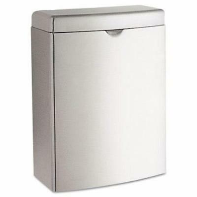 Bobrick Contura Sanitary Napkin Disposal Receptacle, Stainless Steel