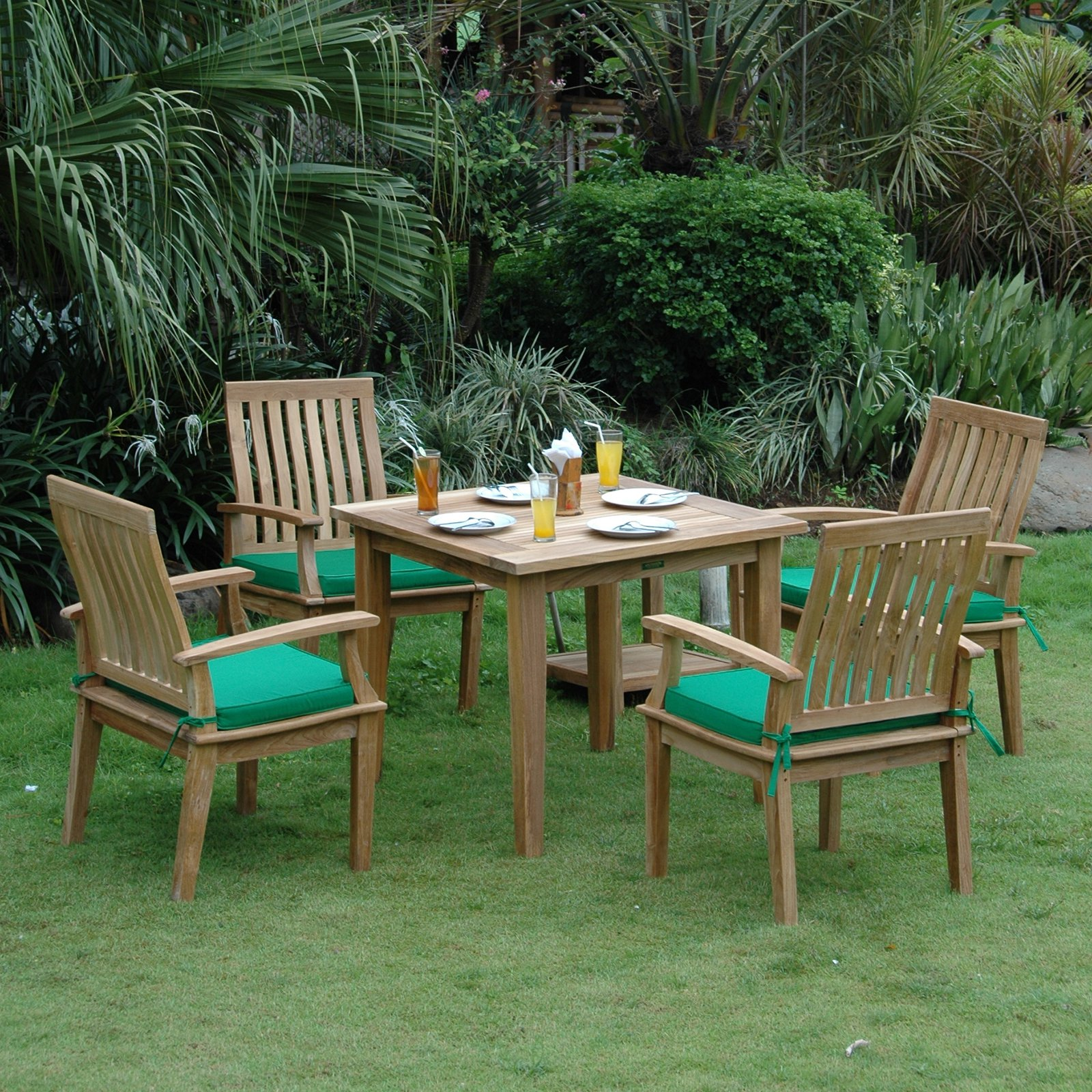 Anderson Teak Brianna 5 Piece Square Patio Dining Room Set by Anderson