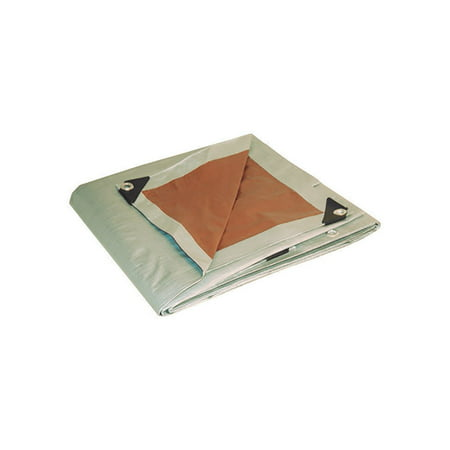 Foremost Dry Top 20 ft. x 30 ft. Heavy Duty Polyethylene Reversible Tarp Brown/Silver