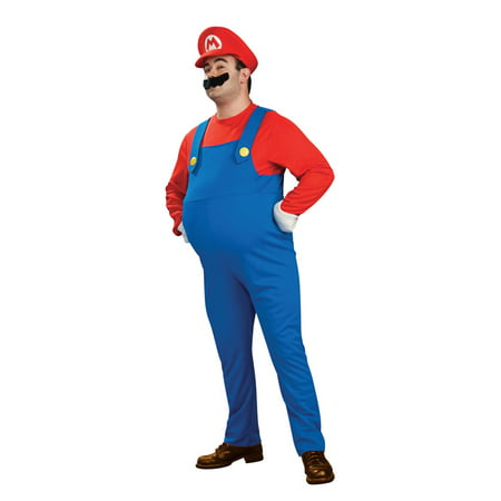 Super Mario Brothers Deluxe Mario Plus Size Costume](Game Mario Halloween)
