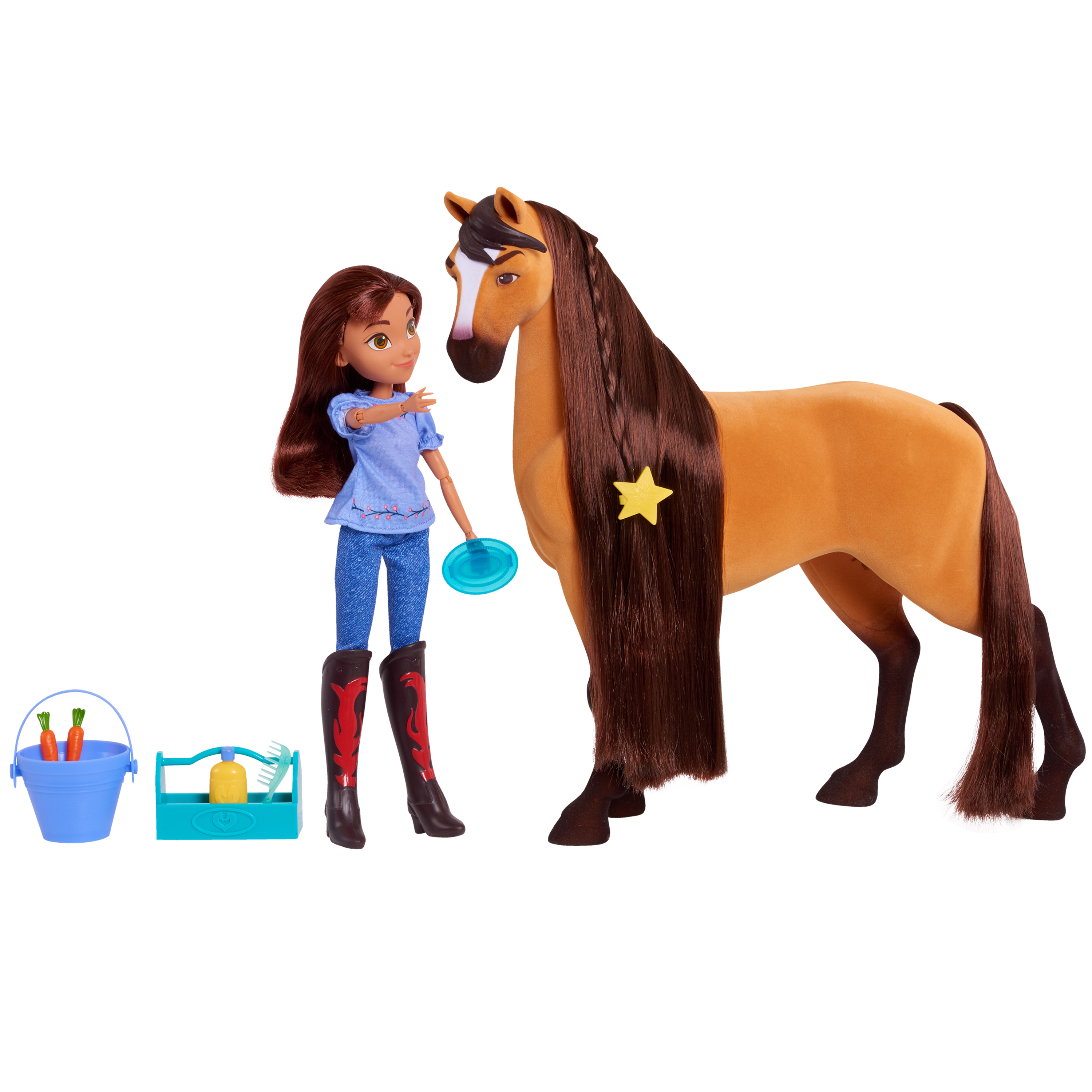 dreamworks spirit riding free deluxe spirit and lucky set