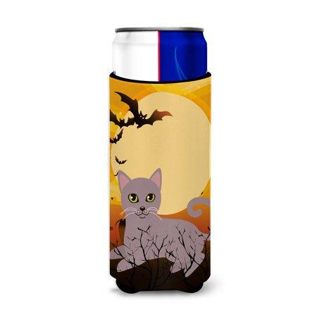 Halloween Russian Blue Cat Michelob Ultra Hugger for slim cans BB4452MUK - Russian Halloween