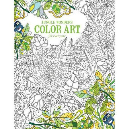 Leisure Arts Inc Color Art for Everyone Jungle Wonders Coloring Book, 1 Each