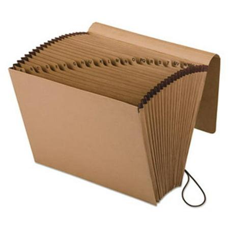 Kraft Indexed Expanding File, 21 Pockets, Kraft Letter - Brown