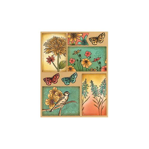 "Penny Black Sticker Sheet 7""X9""-Petals and Wings"