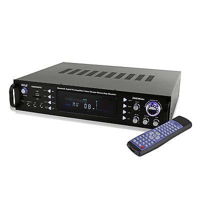 Pyle Home Theater Bluetooth Hybrid Pre-Amplifier Stereo Receiver | P2203ABTU [Istilo257919] by See Description