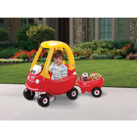Little tikes cozy coupe trailer for Little tikes motorized vehicles