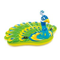Deals on Intex Giant Colorful Peacock Island Ride On Swimming Pool