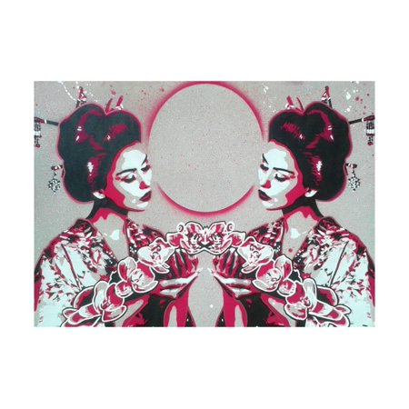 Mirror Geisha Print Wall Art By Abstract (Geisha Paint)