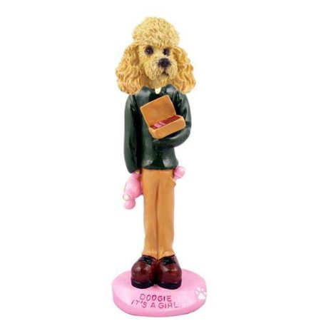 Girl Apricot - Poodle Apricot It's a Girl Doogie Collectable Figurine