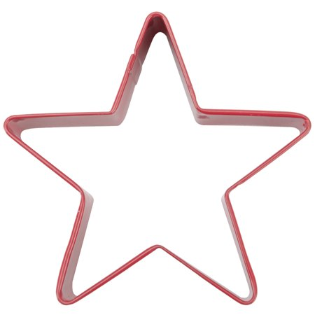 Metal Cookie Cutter 3 Inch-Red/Star