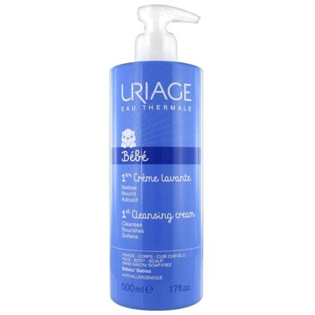 Uriage Baby Foaming and Cleansing Cream 500ml (Whamisa Organic Flowers Foam Cleansing Cream Review)