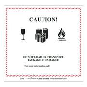 LabelMaster Hazmat Self-Adhesive Shipping Label, 5 7/8 x 5 1/4, CAUTION, 500/Roll -LMTL435