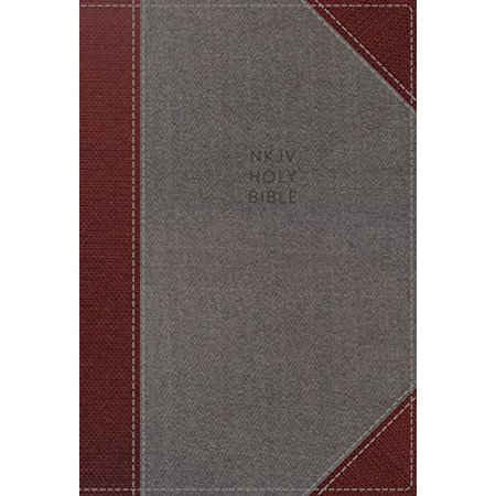 NKJV, Thinline Reference Bible (4852 - Gray/Red Cloth Over Board) - image 1 de 1