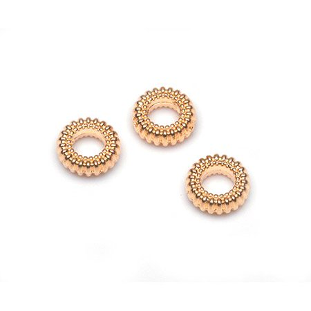 Metal Spacer Beads - Donut - Gold - 8Mm