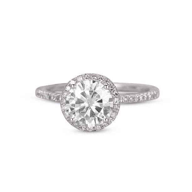 1.25 Carat Round Cut Moissanite Engagement Ring