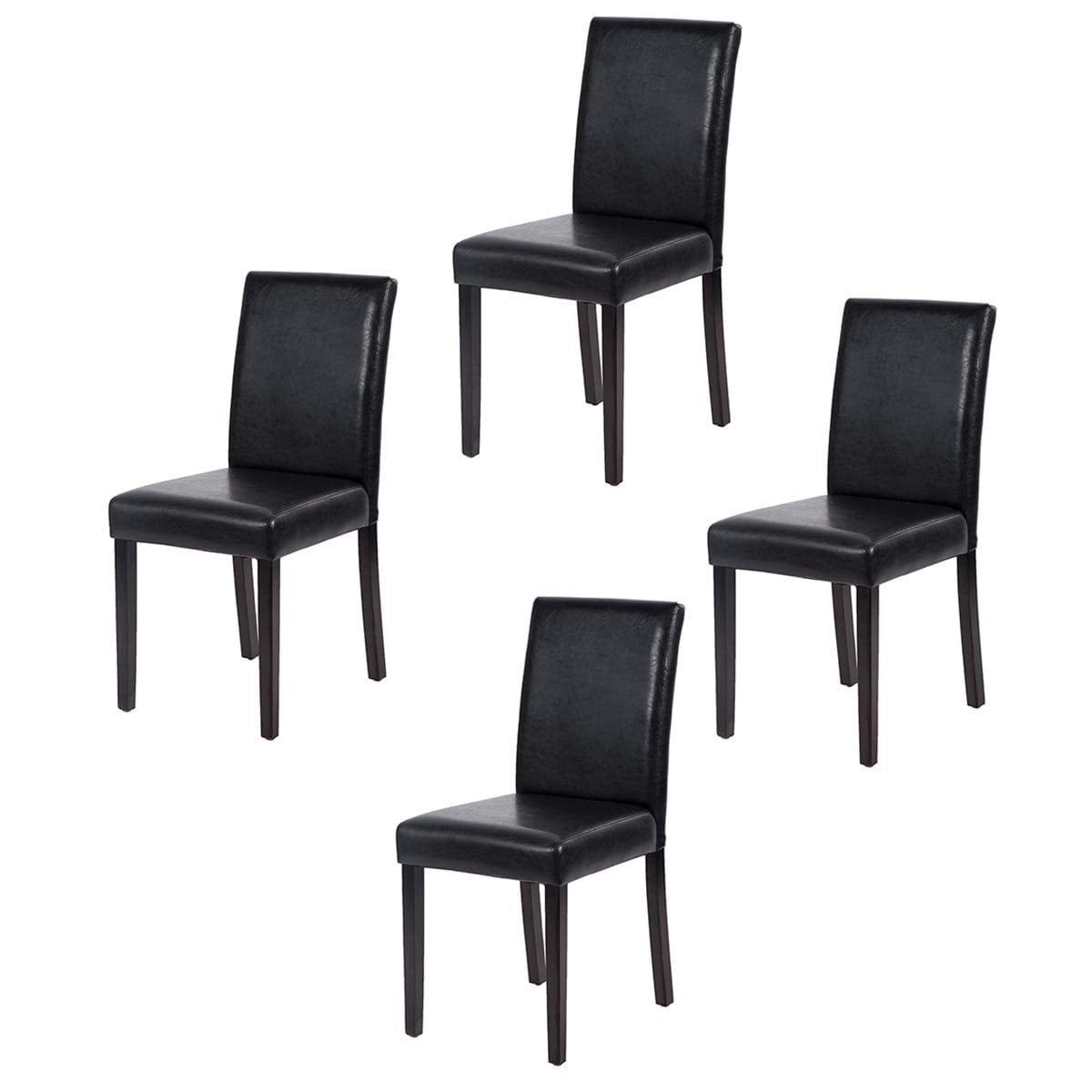 luckeu Dining Chair Solid Wood Legs Set of 4 Retro Style Side Dining Office Modern Lounge Chair for Office Lounge Dining Kitchen Living Room Bedroom