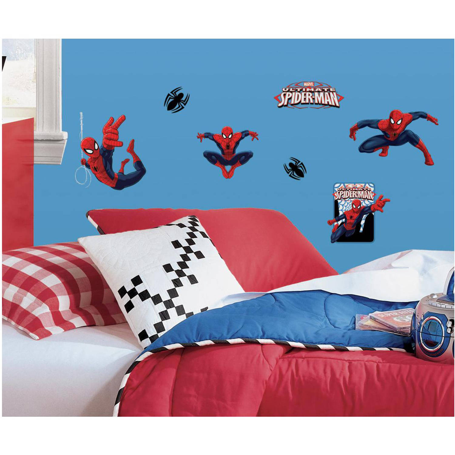 RoomMates Spider Man Ultimate Spider Man Peel And Stick Wall Decals    Walmart.com